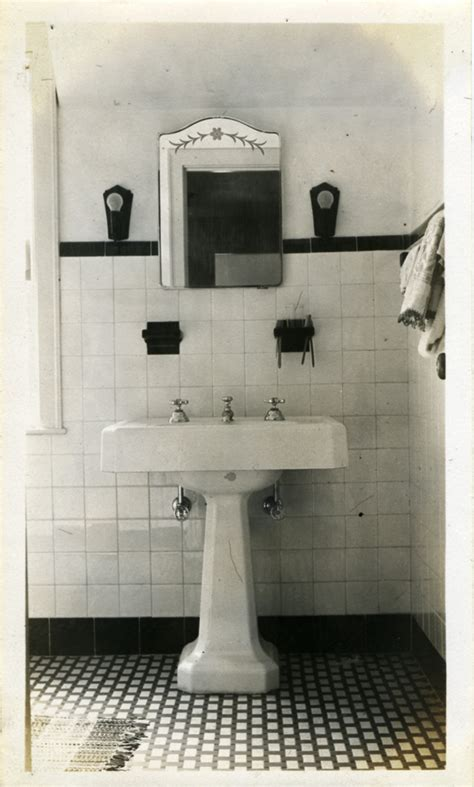 1930s Bathroom Ideas Bathroom On 1930s Bathroom Hex Tile And Tile
