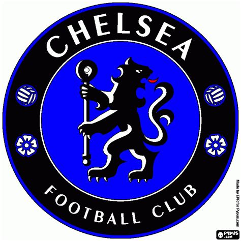 chelsea logo free coloring pages of chelsea logo fc