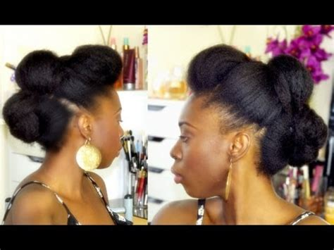 easy edgy updo on hair