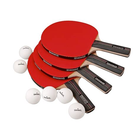 4 Player Table Tennis Set by Brunswick 4 Player Table Tennis Set