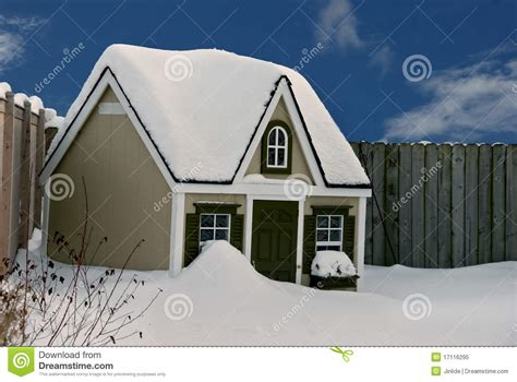 dog house doors for winter dog house in snow stock image image of house fence 17116295