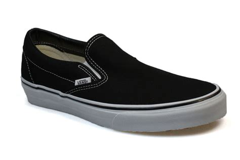 vans slip on shoes vans mens womens classic black white canvas slip on