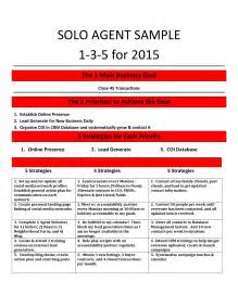 1 3 5 year plan template the one page real estate business plan