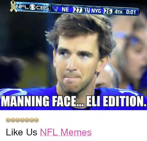 Manning Face Meme - 121 funny cbs and nfl memes of 2016 on sizzle