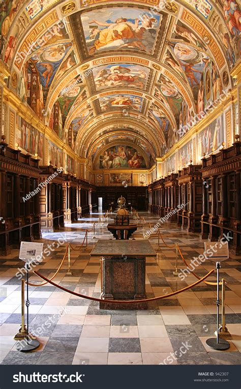 inside in spanish royal library inside el escorial spanish stock photo 942307 shutterstock