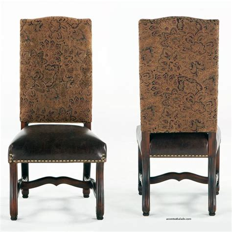 Tuscan Dining Chairs World Dining Chairs At Accents Of Salado Antigua Collection Leather Seat With Chenille