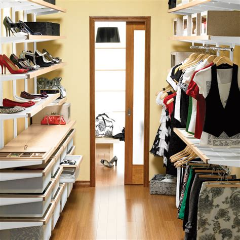 How To Organize Your Walk In Closet by Birch White Elfa D 233 Cor Organized Walk In Closet The Container Store