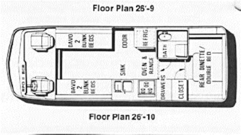 gmc motorhome floor plans gmc motorhome floor plans