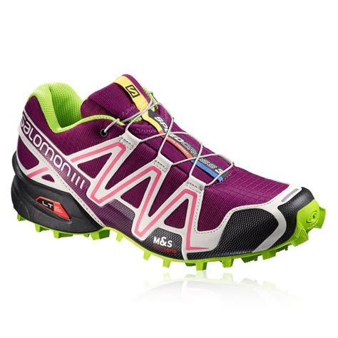 water resistant trail running shoes salomon speedcross 3 womens purple water resistant trail