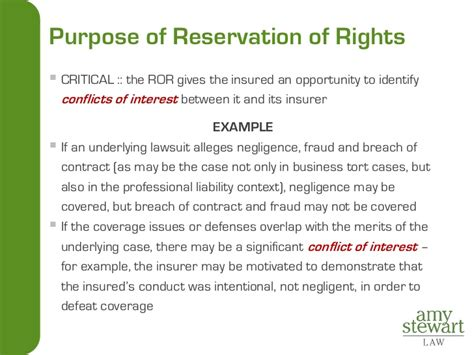 Reservation Rights Letter Insurance Coverage For Litigators