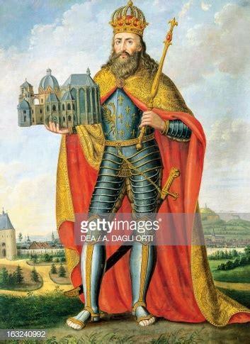 portrait  charlemagne king  franks  lombards