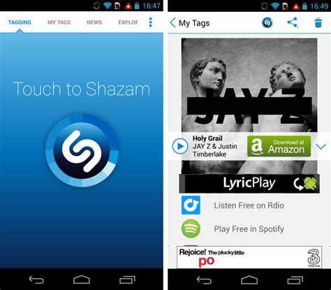 shazam app android so you ve just got an android device these apps