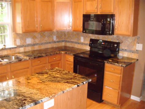 ideas for backsplash with light colored granite