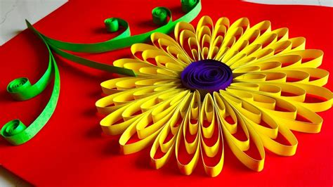 Birthday Decoration Images At Home by Quilling Flowers Tutorial Sunflower Paper Quelling