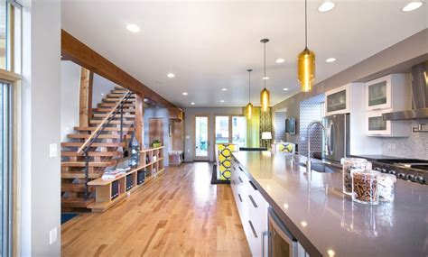 denver house features pharos pendant lights kitchen