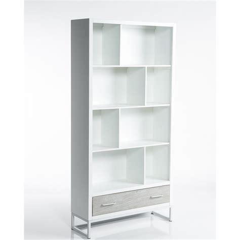 scaffale libreria legno libreria scaffale moderna in legno bianco con 8 vani per