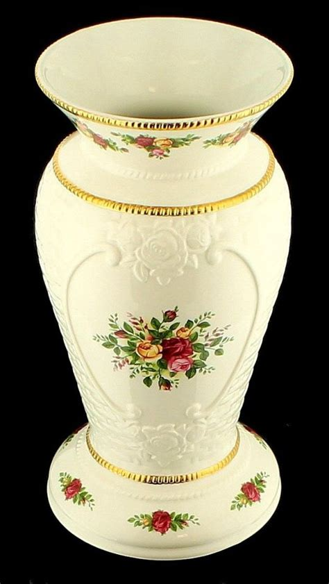 Royal Albert Country Roses Vase by Vintage Royal Albert Country Roses Basket Weave Vase