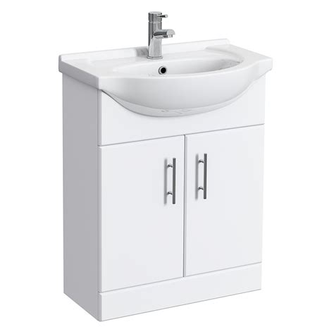 Vanity Units For Cloakrooms by Alaska High Gloss White Vanity Unit Cloakroom Suite W1150 X D300mm At Plumbing Uk