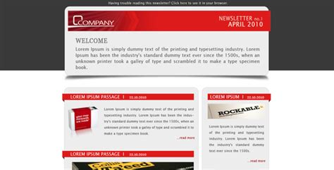 Company Newsletter Email Template By Subline Themeforest Company Newsletter Email Template