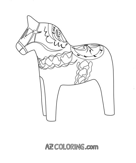 swedish horse coloring page coloring coloring pages