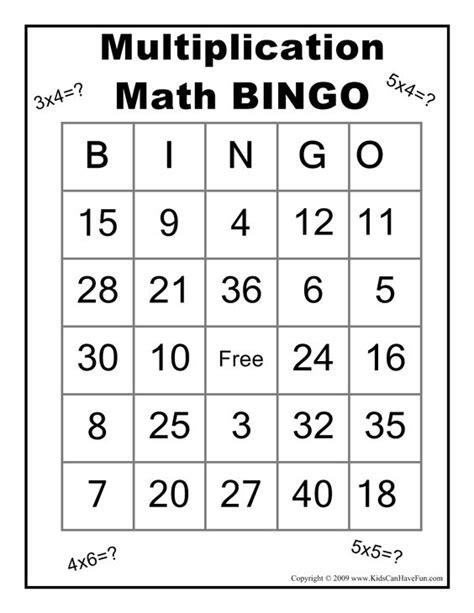 dice bingo printable multiplication math bingo game http www kidscanhavefun