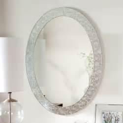 Small Oval Mirrors Bathroom D 233 Cor Wonderland Frameless Crystal Wall Mirror 23 5w X