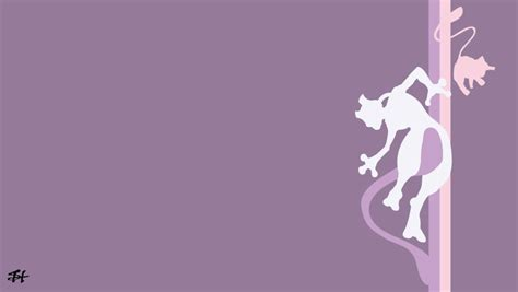 mewtwo background mew and mewtwo minimalist wallpaper by slezzy7