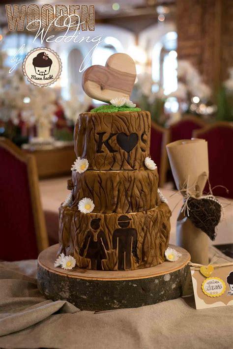 eine ganz besondere hochzeitstorte in holzoptik - Hochzeitstorte Holz