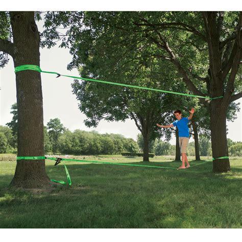 backyard slackline go play how to make a kid friendly backyard abode