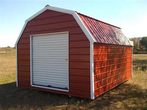 Portable Metal Storage Sheds by Portable Gambrel Style Storage Building