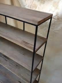 commercial wood shelving industrial rustic shelving wood and metal shelf