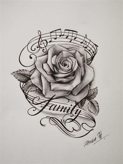 music rose tattoo designs the 31 best and note images on