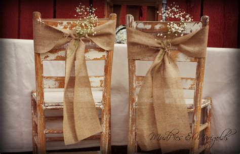 Chair Sashes For Weddings by 40 Hessian Wedding Ideas Burlap Chair Sashes Burlap