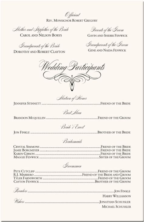 Catholic Wedding Program Templates With Mass Mini Bridal Nuptial Mass Program Template