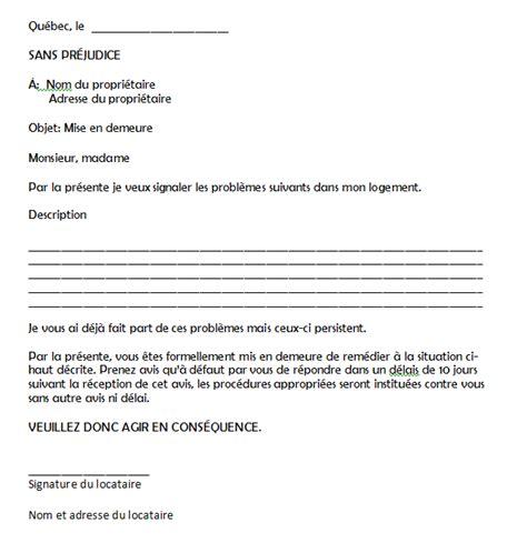 Exemple De Lettre De Mise En Demeure Pour Nuisance Comit 233 Logement D Aide Aux Locataires Mod 232 Le De Mise En Demeure
