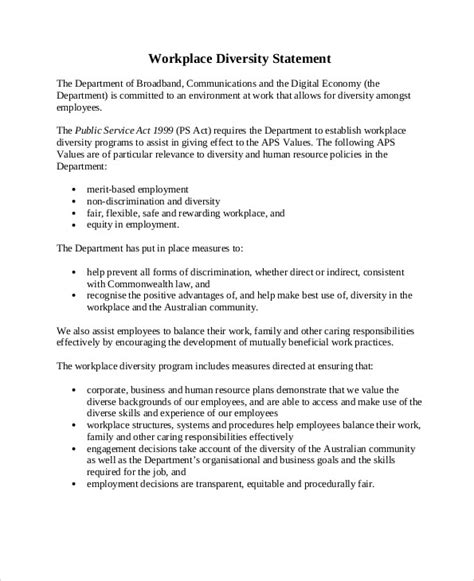 diversity statement sle 9 exles in word pdf