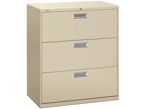 Hon 3 Drawer Lateral File Cabinet by 600 Series 3 Drawer Lateral File Cabinet Hon 683 Metal