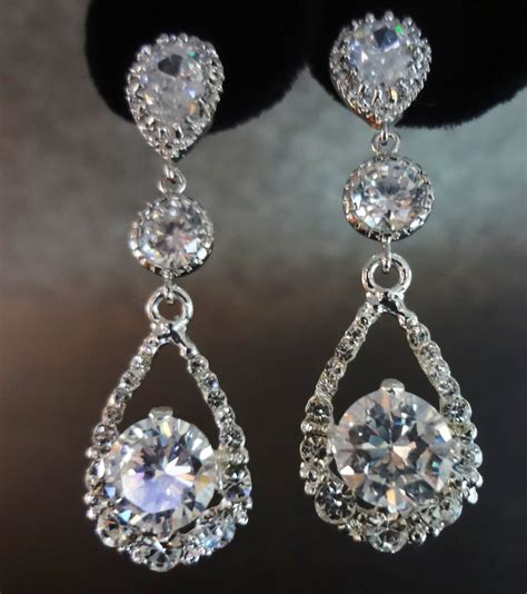 rhinestone earrings bridal jewelry crystal rhinestone earrings by