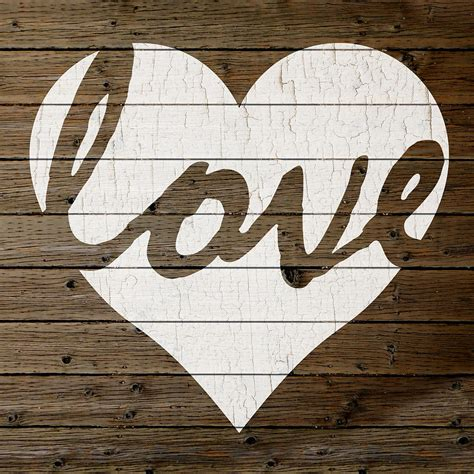 Painted Wall Designs by Love Heart Hand Painted Sign Peeling Paint White On Brown