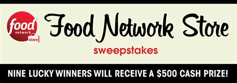 Food Network Sweepstakes - food network store sweepstakes