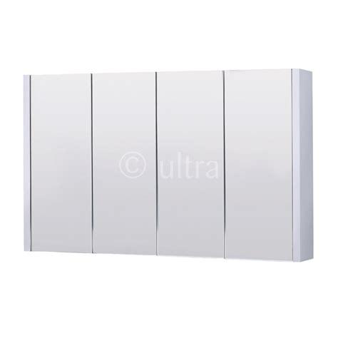 lux 1200mm gloss white 4 door mirror bathroom cabinet ebay high gloss white lux 1200mm 4 door mirror cabinet buy