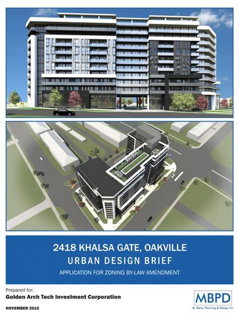 urban design brief richmond hill development approvals mbpd