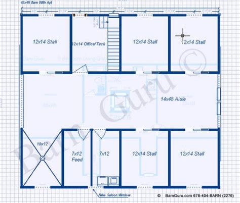 600 Square Foot House Plans by 5 Stall Horse Barn Plans With 2 Bed Room Apt Apartment