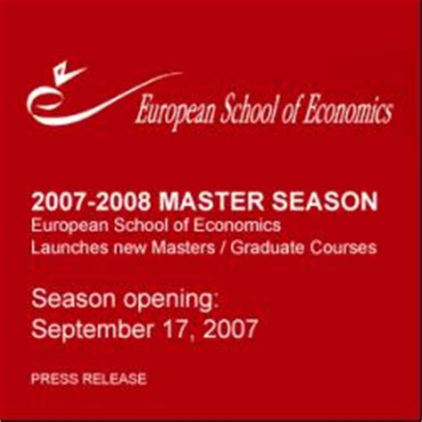 Florence Emba Classic european school of economics launches new masters and