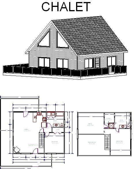 chalet log cabin floor plans