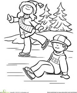 Ice skating worksheet education com
