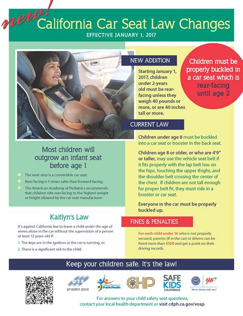 child safety seat laws by state the news sutter county children families