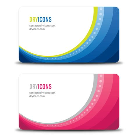 Wave Business Card Template Free Word by Colorful Wave Business Card Design Free Vectors