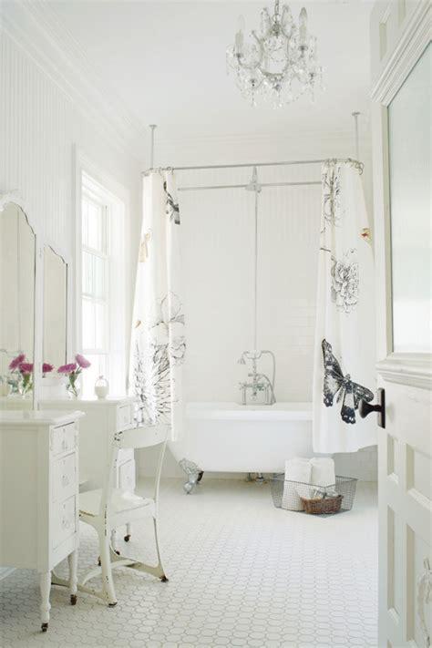 Ceiling mounted shower curtain bathroom modern with bath