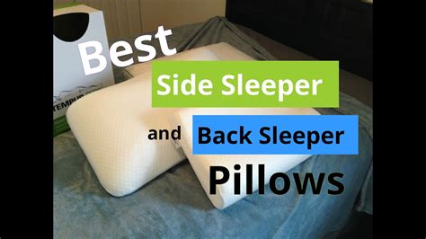 best pillow for back sleepers best side sleeper and back sleeper pillows